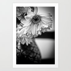 vase and flowers  Art Print