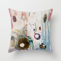 moon phase Throw Pillows featuring Pisces Moon, Phase 1 by Ysabel Price