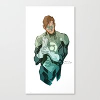 green lantern Canvas Prints featuring Green Lantern by Bruno Oliveira