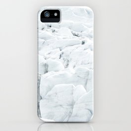 White winter glacier icelandic landscape photography iPhone Case