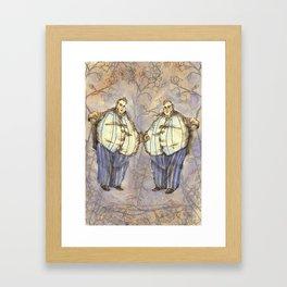 Tweedledum & Tweedledee Framed Art Print