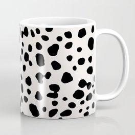 Polka Dots Dalmatian Spots Black And White Coffee Mug