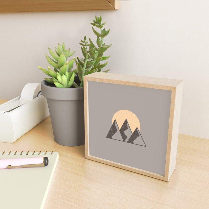 Mountain Sun Framed Mini Art Print