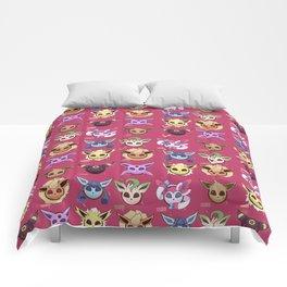 Eeveelution Maroon Comforters