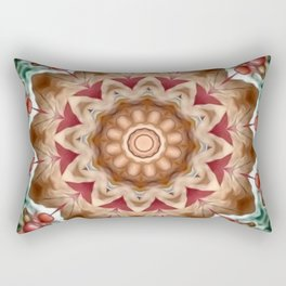 Autumn Berry Flower Mandala Rectangular Pillow
