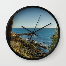 The End of the Fence Wall Clock