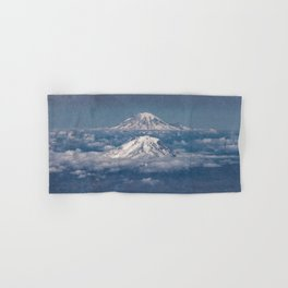 Mount Adams Mt Rainier - PNW Mountains Hand & Bath Towel