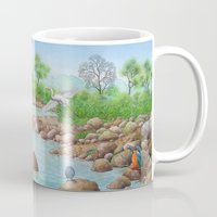 river Mugs featuring  river  by Amy Fan