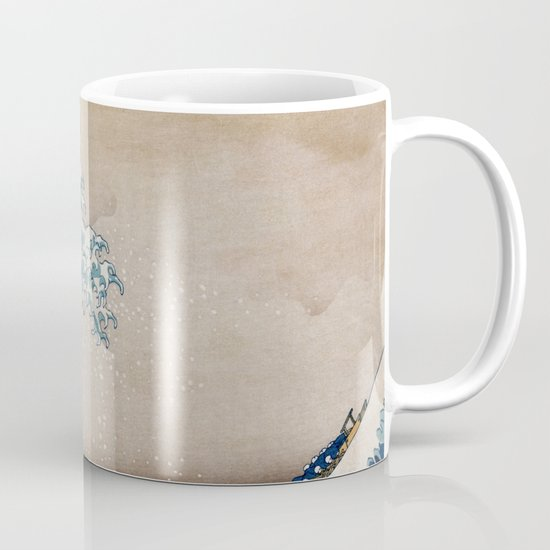 Under The Great Wave By Hokusai Mug By Artmasters Society6