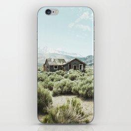 Old house in desert iPhone Skin