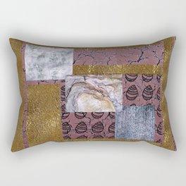 purple texture and Doodle Rectangular Pillow
