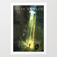 the maze runner Art Prints featuring The Maze Runner by TK Studios