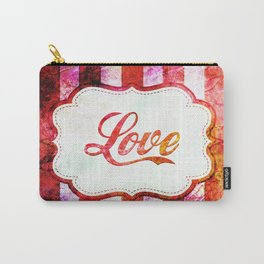 Love Grungy Spripes Carry-All Pouch