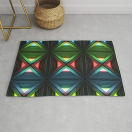 Modern background with light effects of geometric ornament. Rug
