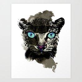BLACK TIGER Art Print