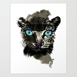 BLACK TIGER Art Print