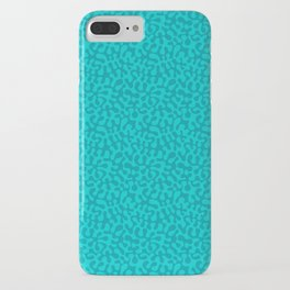 Abstract retro summer teal groovy pattern iPhone Case