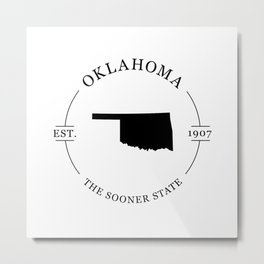 Oklahoma - The Sooner State Metal Print