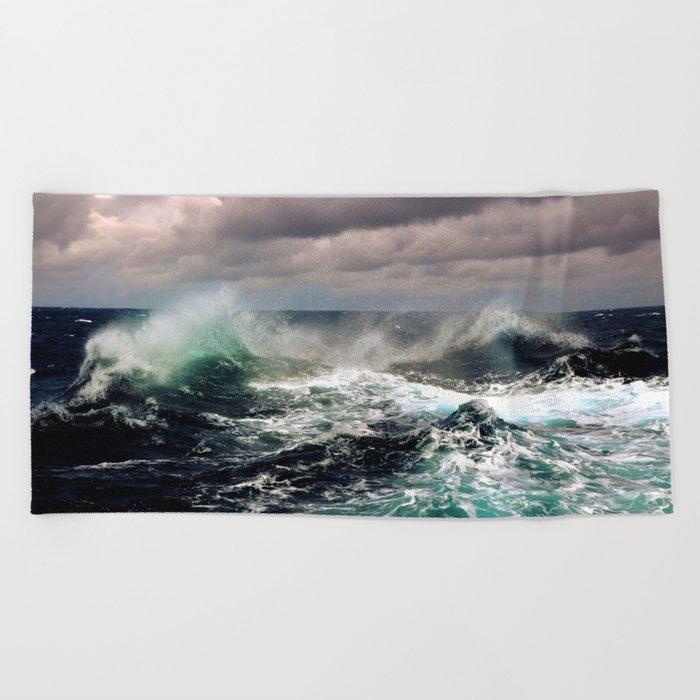 Waves XCI Beach Towel