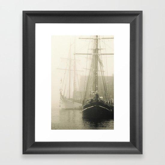 Haunted Ocean  Framed Art Print