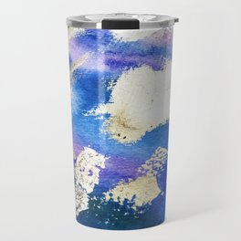 Gold Ocean Abstract Modern Design Travel Mug