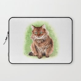 Somali cat portrait Laptop Sleeve
