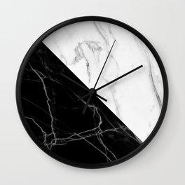 half black half white marble Wall Clock