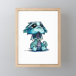 Baby Dragon Framed Mini Art Print