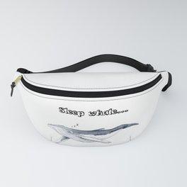 Sleep whale Fanny Pack