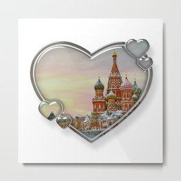 I Love Moscow Metal Print