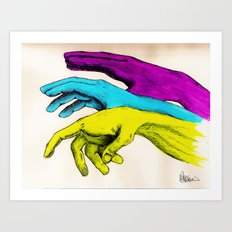 Painted Hands Art Print