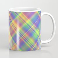 plaid Mugs featuring Plaid by Lyle Hatch