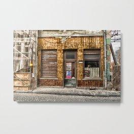 between rebuild and demolished Metal Print