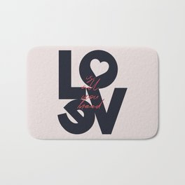 All you need is love, The Beatle music quote, Valentine's Day, just married, couples gift, present Bath Mat