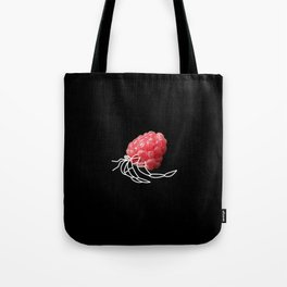 Raspberry Hermit Crab Tote Bag