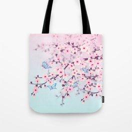 Cherry Blossoms Ladscape Tote Bag