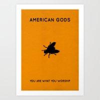 American Gods Minimalist Poster - Laura Art Print