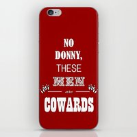 the big lebowski iPhone & iPod Skins featuring Cowards (Big Lebowski) by thebuccanear