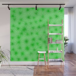 Green Fuzzball Abstract Wall Mural