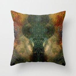 """The Inner Forest (caramel pattern)"" Throw Pillow"