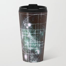 Galaxy Sacred Geometry: Golden Mean dark Travel Mug