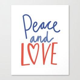 CHRISTMAS PEACE AND LOVE Canvas Print