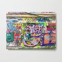 Covered In Graffiti Metal Print