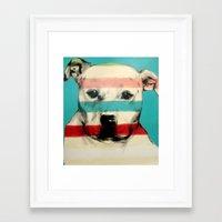 rocky Framed Art Prints featuring Rocky by Carly Casey