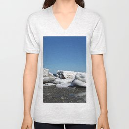 Icebergs and the big Dog Unisex V-Neck