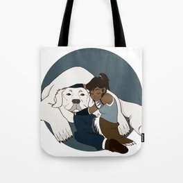 Korra and Naga Tote Bag