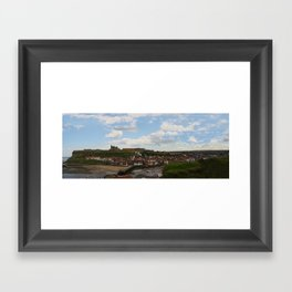 Colour Version of Whitby Harbour Panorama Framed Art Print