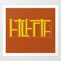 atlanta Art Prints featuring Atlanta by James Martin