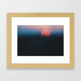 Resting Sun Framed Art Print