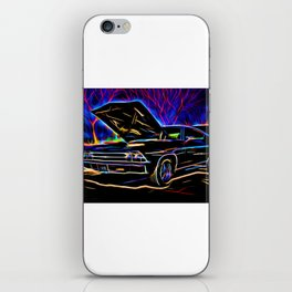 1969 Neon Chevy Chevelle Chevrolet iPhone Skin